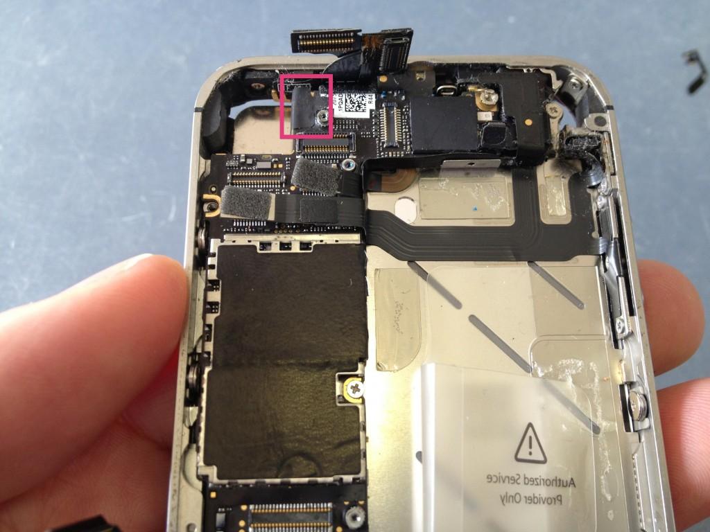 iPhone4Sテープ外す