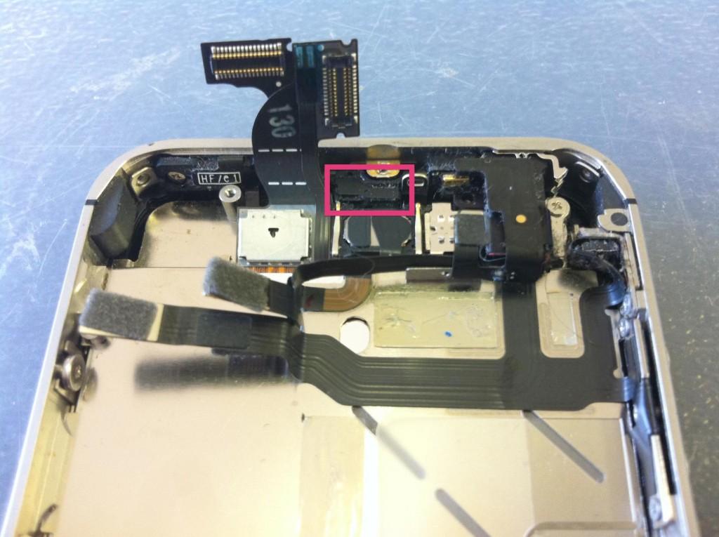 iPhone4Sセンサーカバー