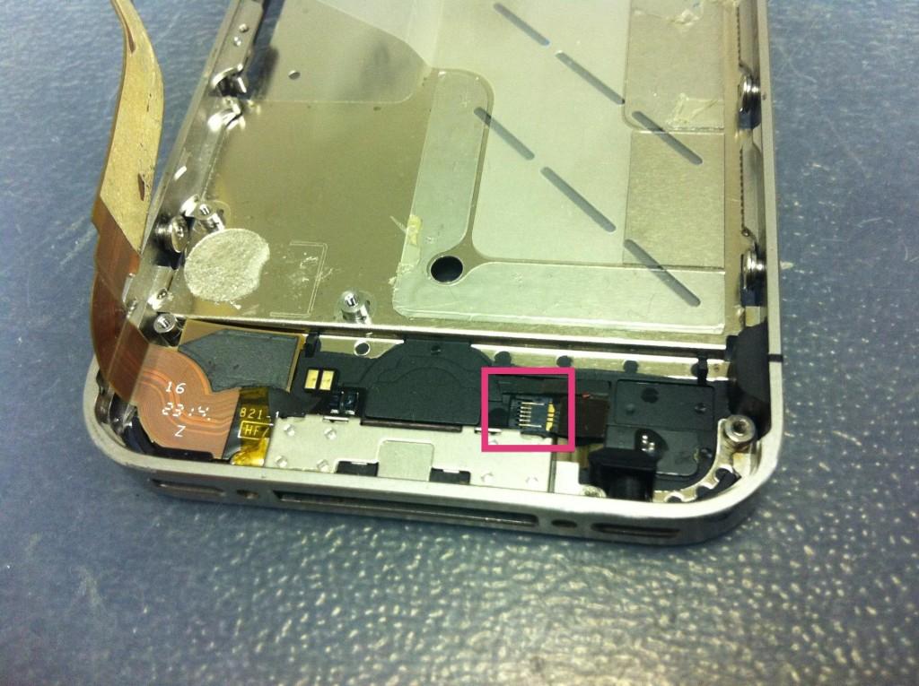 iPhone4Sホームボタン接続外す