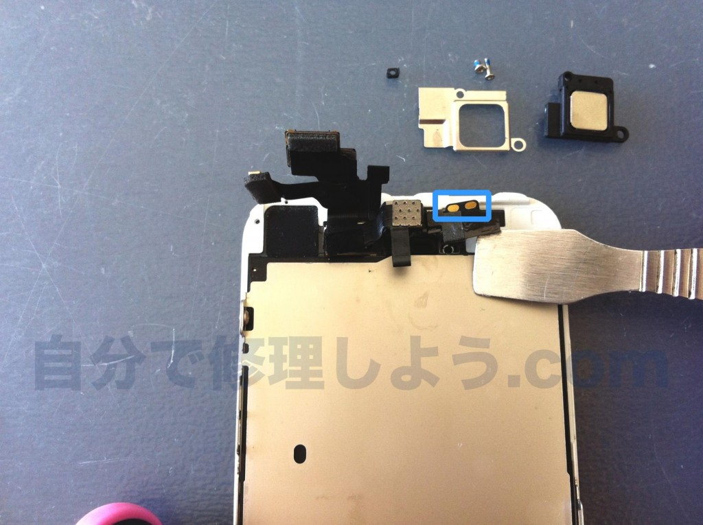 iPhone5インカメラ、センサー外す