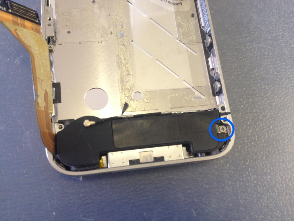 iPhone4ラウドスピーカーネジ