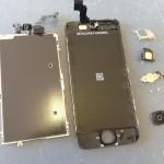 iPhone5Cガラス、液晶、タッチパネル修理方法