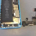 iPhone5Cライトニングコネクタ、イヤホン、マイク修理方法